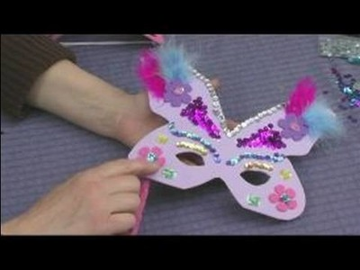 Making Foam Masks for Kid's Crafts : Decorating a Butterfly Mask