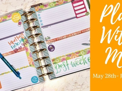 Plan With Me| Horizontal Classic Happy Planner| May 28-June 3| Weekly Planner Inspiration
