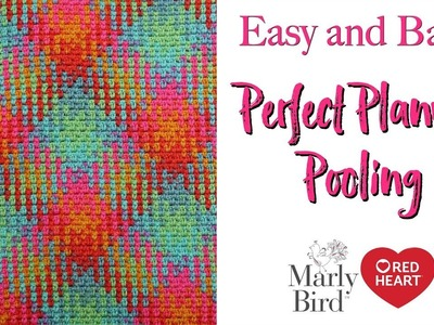 Planned Pooling Made Easy with Moss Stitch  *New Yarn by Red Heart!* [Right Handed]