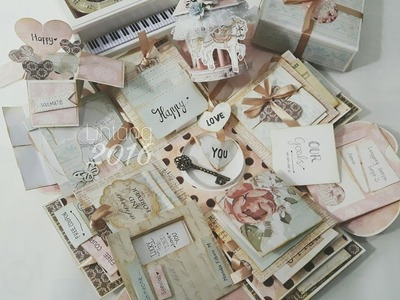 Shabby Chic Exploding Box with Carousel