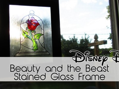 Stained Glass Frame | Beauty and the Beast | 30 Days of Disney #9 | Creation in Between