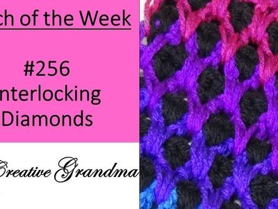 Stitch of the Week # 256 Interlocking Diamonds Crochet Tutorial