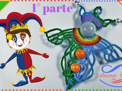 "Tutorial macrame  "" The jester - Il giullare ""  1° PARTE - Step by step"