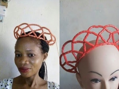 Tutorial on how to make this Edo beaded crown