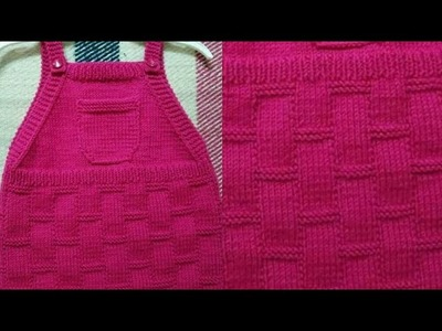Woolen Frock for 3-5 Years Old Babies.Block Design for Kids.Easy Knitting Tutorial:Design-161