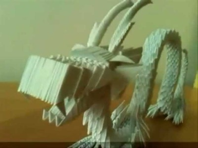 3D Modular Origami Chinesse Dragon My First