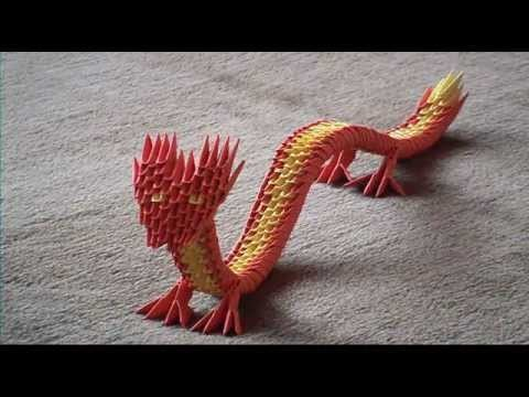 3d Origami Chinese Dragon English