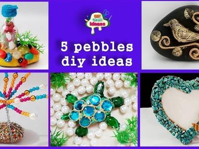 5 pebbles diy ideas # pebbles # DIY art And Crafts ||  diy craft ideas