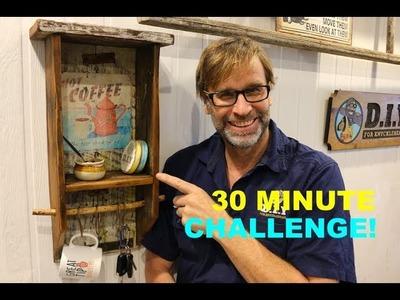 Build a Pallet Wood Shelf. 30 MINUTE CHALLENGE With BONUS TIPS!!