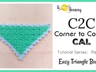 C2C Corner to Corner CAL - Part 6 - Easy Triangle Shawl Border
