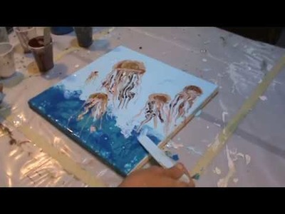 Cool New Jelly Fish Pour by Shannon Sloan Art - Please Subscribe