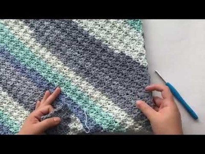 Corner to Corner with Half Double Crochet Tutorial using Caron Cotton Cakes