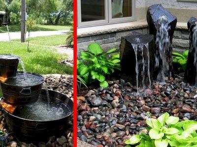Creative DIY Water Garden and Backyard Ideas | Fountain Waterfalls Small Lake
