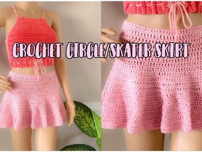 Crochet circle.skater skirt | SUPER EASY !