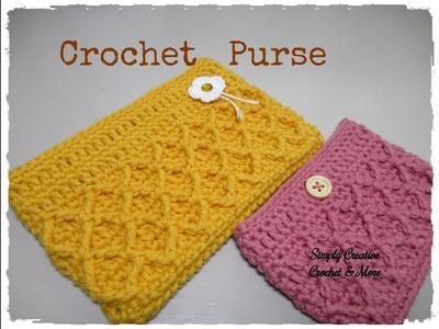 Crochet Diamond Stitch Purse