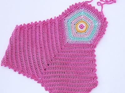 Crochet halter top for girl Majovel crochet