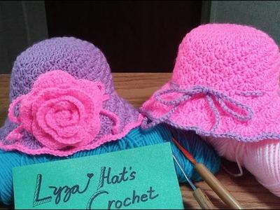 Crochet shell baby cloche part 1