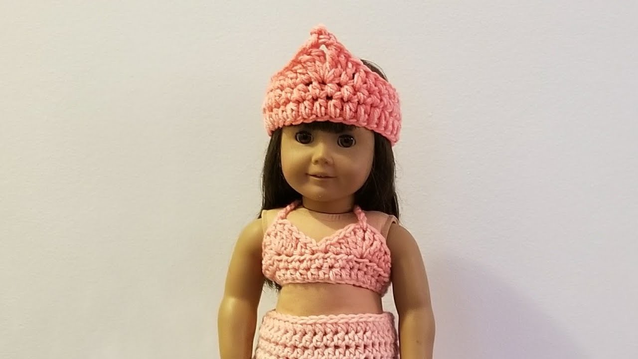 Crocheted American Girl Halter Top and Crown - Tutorial