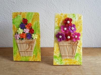Diy flower basket wall decor.Diy room decor with thermocoal