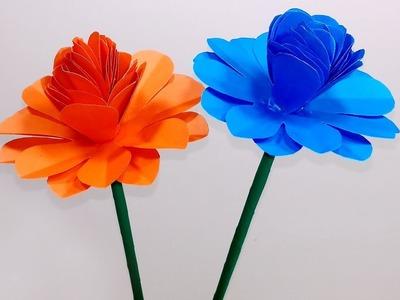 DIY Handcraft Ideas: Beautiful Stick Paper Flower | Stick Flower | Jarine's Crafty Creation