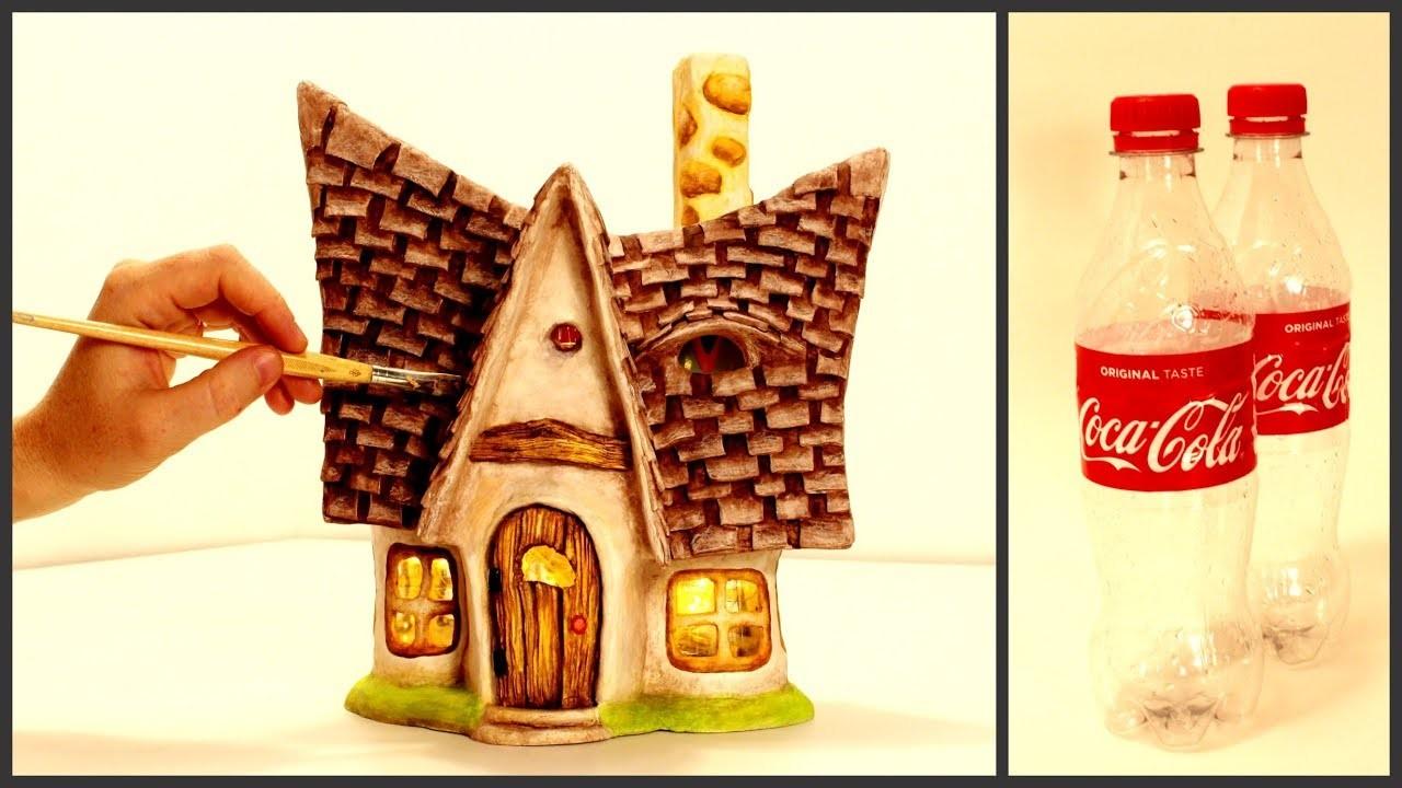 Diy Little Fairy House Lamp Using Plastic Bottles