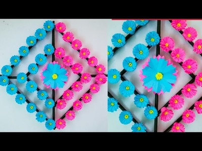 Diy paper flower wall hanging.Simple and beautiful wall hanging.Wall decoration by KovaiCraft #24