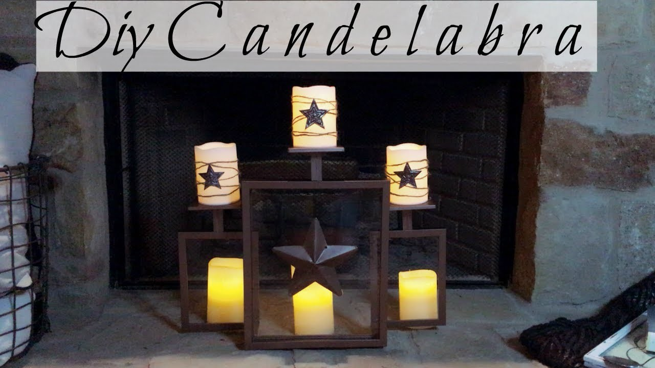 Dollar Tree DIY Rustic Candelabra For Your Fireplace | Great Empty Space Filler!