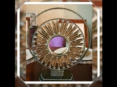 Elegant DIY Mirror Decor, Using Embroidery Hoops: Dollar Tree Elegance For Less With Faithlyn