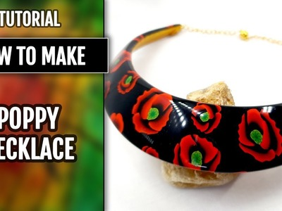 Free Tutorial: How to make a Poppy Necklace from polymer clay.