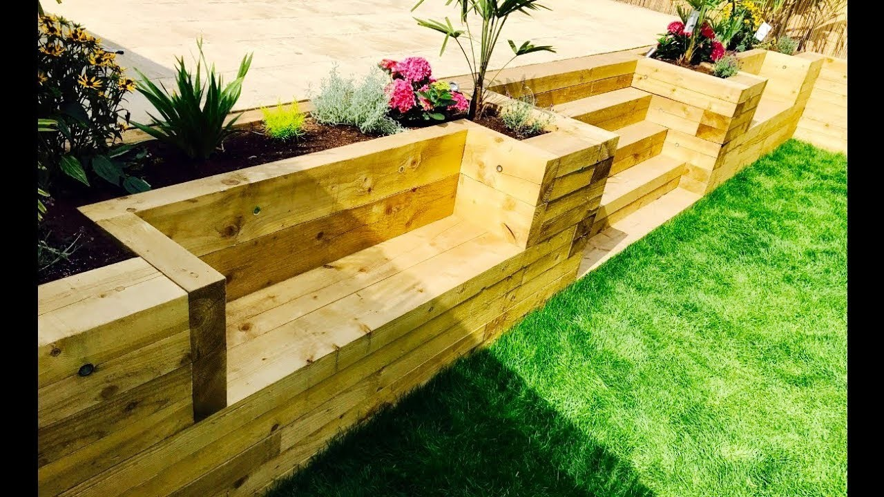 Flower, Garden Levelling, Retaining Wall, Stairs, Benches From ...