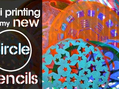 Gelli Printing with my NEW Circle Stencils!