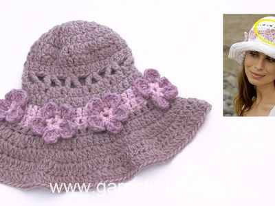 How to crochet after charts to the hat in DROPS 190-20