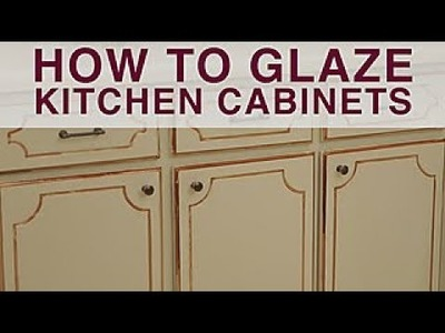 How to Glaze Kitchen Cabinets - DIY Network