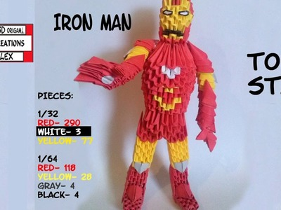 HOW TO MAKE 3D ORIGAMI IRON MAN TUTORIAL || DIY 3D ORIGAMI IRON MAN TUTORIAL