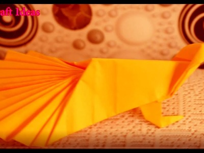 How to make a paper Peacock? Origami paper craft ideas