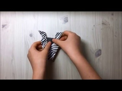 How to make a paper Zebra (얼룩말 접는 방법)