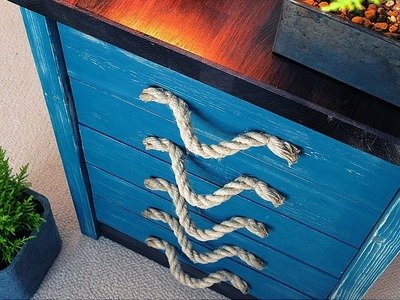 How To Make a Rustic Desk with Drawers (from scratch)