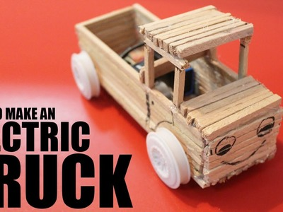How to make a truck that moves - Making wooden toy trucks