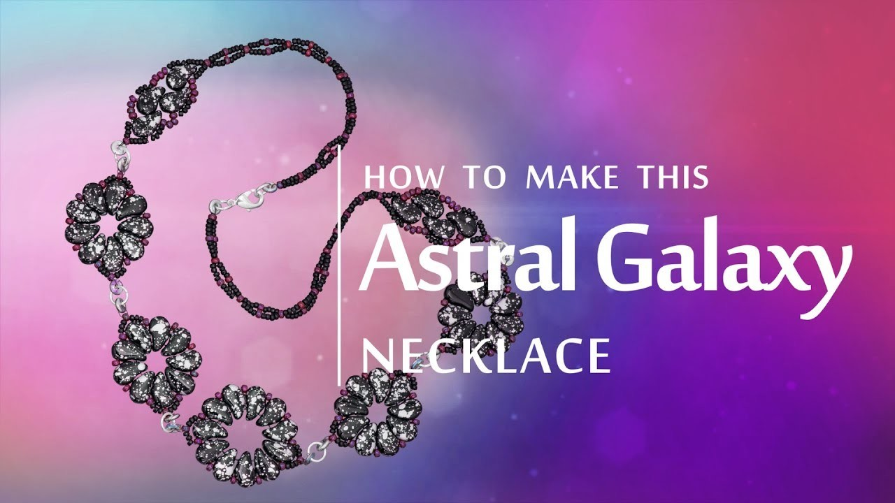 How to make this Astral Galaxy necklace | Paisley Duo bead design