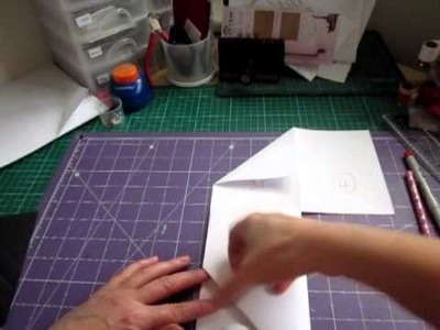 How to tutorial-  slanted pocket insert for mini albums