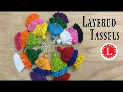 Make Layered Tassels (DIY) for Earrings & More Crafts | Loomahat