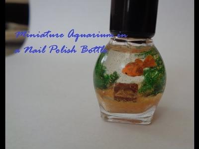Miniature Goldfish Aquarium in a Nail Polish Bottle