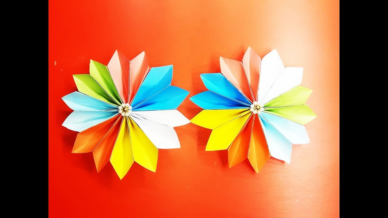 Origami Easy Paper Flower How To Make A Flower With Color Paper