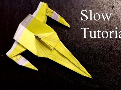 Origami Star Wars Naboo Starfighter - Slow Tutorial