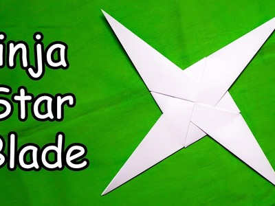Paper Ninja Star (4 Pointed) - Easy Origami Tutorial
