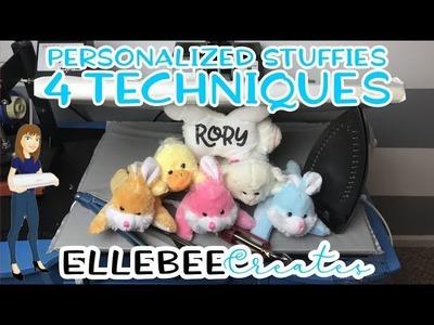 Personalize Stuffed Animal Plushies with HTV - 4 ways!