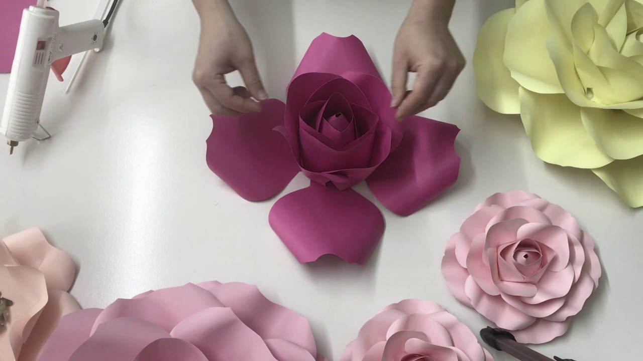 How to make paper flower video free flowers healthy rose paper flower free video tutorial how to make a paper rose diy paper flower diy mightylinksfo