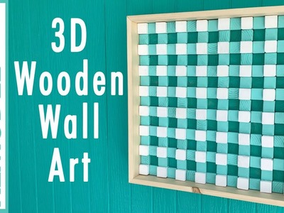 Square Wooden Wall Art Challenge; Buffalo Check 3D Wood Art