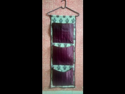 Wall hanging organiser from  old kurti. how to make best use off old used fabric