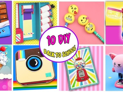 10 DIY BACK TO SCHOOL - Awesome School Supplies | aPasos Crafts DIY
